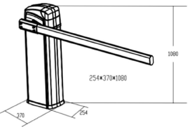 kích thước BARIE TAY GẬP BS – 306TI