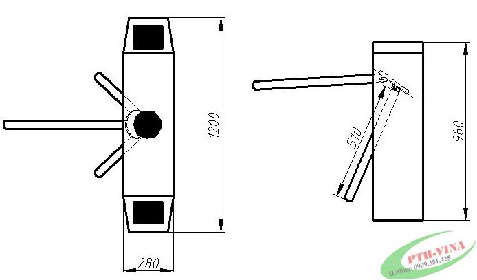 cấu tạo của tripod turnstile