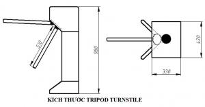 kích thước tripod turnstile