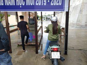 Bãi xe quẹt thẻ từ trường đại học Bạc Liêu - PTH
