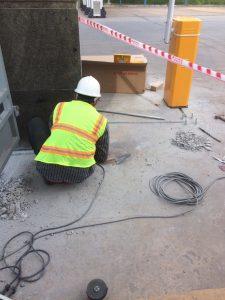 Hình ảnh kỹ thuật đang thi công công trình barrier bs 306