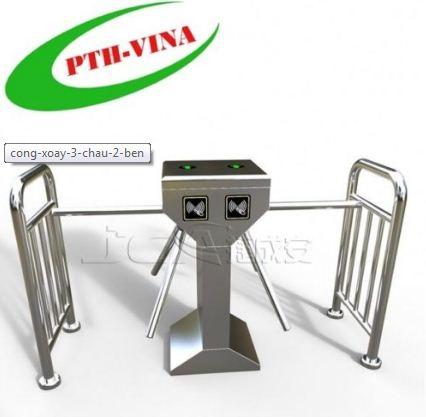 cổng xoay tripod 2 chiều 3 càng soát vé tự động