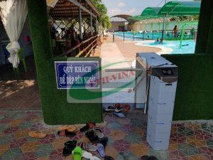 cổng xoay soát vé hồ bơi tự động
