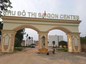 Lắp đặt barie tự động cho Sài Gòn Center Bình Dương